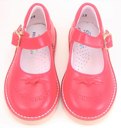 A-1244 - Red Buckle Mary Janes