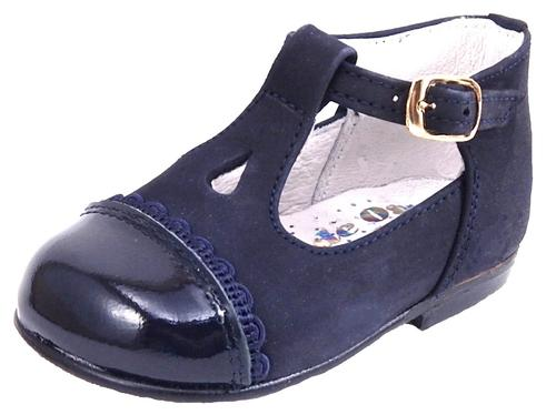 A-618 - Navy Cap-toe Dress Shoes