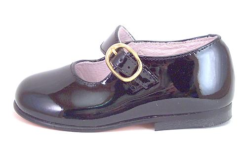 FARO F-3343 - Black Patent Mary Janes - EU 19 US 4-4.5