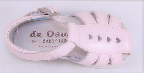 B-109 - Pink Leather Sandals