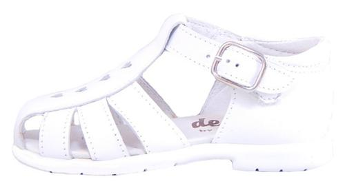 B-109 - White Leather Sandals
