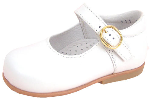 DE OSU B-111 Baby//Toddler Girls/' Classic Euro White Dress Shoes Sizes 4 /& 5