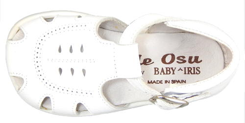 B-138 - White Leather Fisherman Sandals