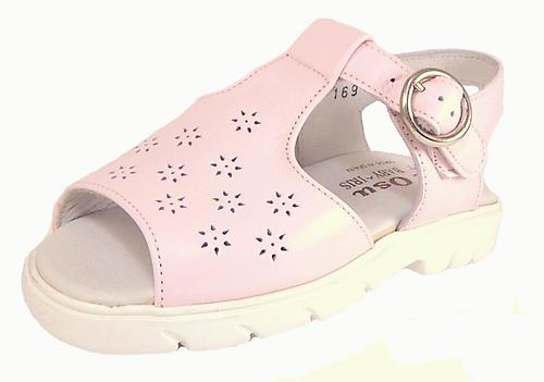 B-169 - Pink Leather Sandals