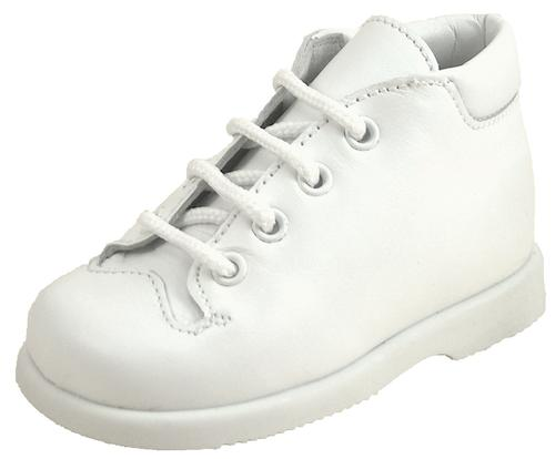 B-6066 - White Leather Walking Boots