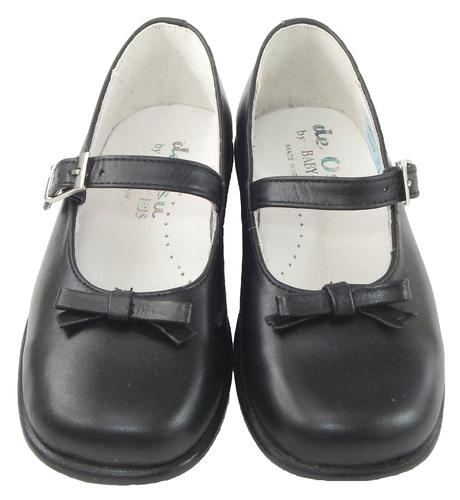 DE OSU B-6121 - Black Bow Mary Janes