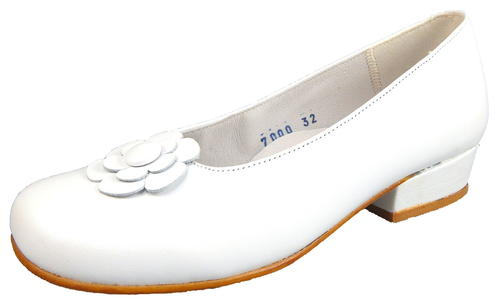 B-7000 - White Dress Slip-On - Euro 32 Size 1