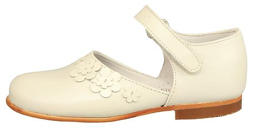 B-7030 - Ivory Flower Dress Shoes - Euro 25 Size 8
