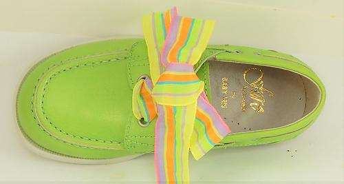 FARO B-7161 - Lime Boat Shoes - Euro 25 Size 8