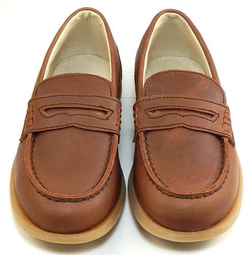 917dce84d10 DE OSU FARO B-7163 - Boys  European Light Brown Leather Loafers