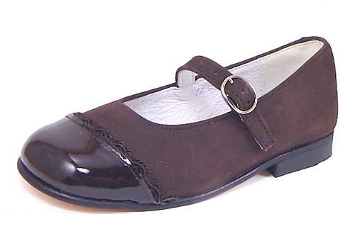 B-7208 - Brown Nubuck Mary Janes