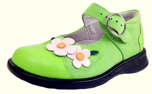 B-7220 - Lime Green Mary Janes - Euro 25 US 7