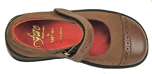FARO B-7319 - Brown Mary Janes - Euro 25 Size 8