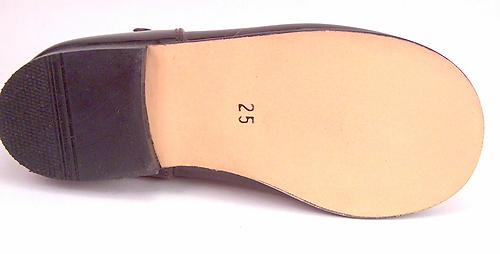 B-7732 - Brown Patent Mary Janes