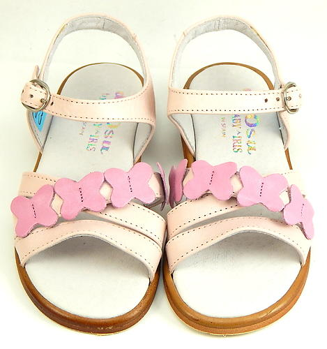 B-7418 - Pink Butterfly Sandals - Euro 25 Size 8