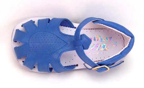 440 - Baby/Toddler Blue Leather Sandals