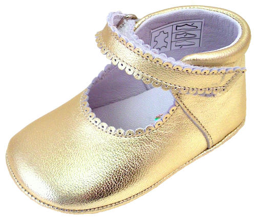 DO-103 - Gold Dress Crib Shoes