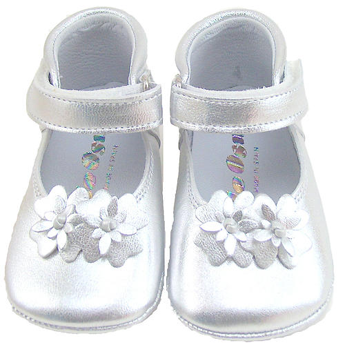 DO-130S - Silver Crib Shoes