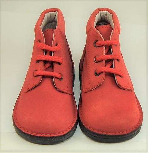 A-534 - Red Nubuck Boots - Euro 20 Size 4.5