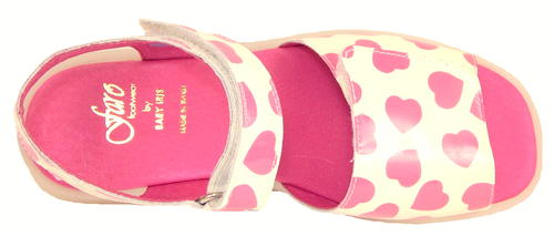 FARO B-063 - White Fuschia Patent Sandals -EU 34 US 3