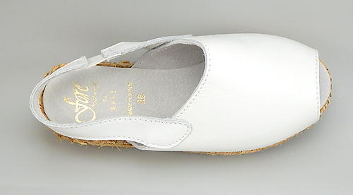 F-3582 - White Leather Espadrilles - Euro 26 Size 10