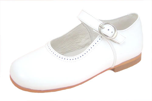 European White Patent Leather Dress Shoes
