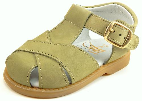 FARO F-4525 - Kahki Fisherman Sandals - Euro 19 Size 4