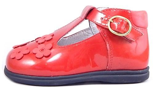B-6102 - Red Patent High Tops