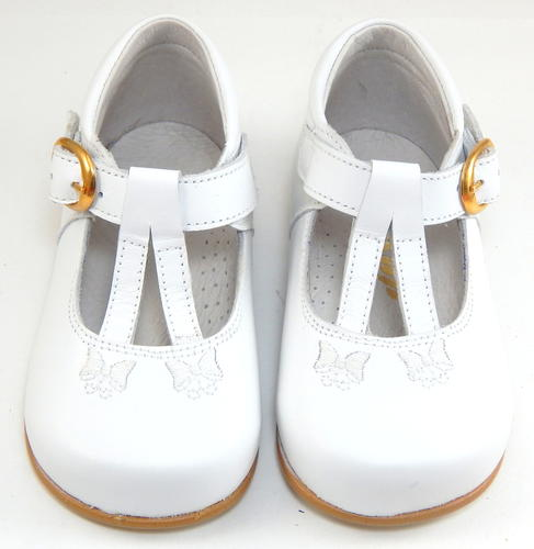 De Osu S-1347 - Baby Toddler Girls Classic European White Leather ... a7c5377f03d8