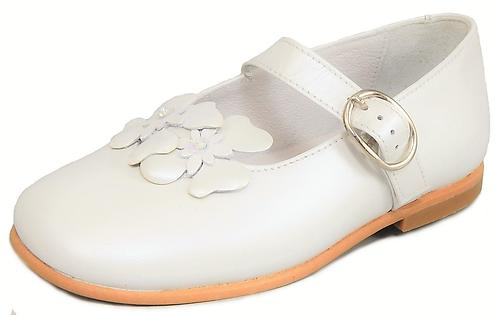 K-1082 - White Pearlized Mary Janes