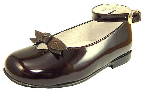 K-1084 - Brown Patent Ankle Straps