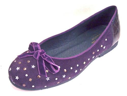 e89832d9a6c76 De Osu/Faro K-352 - Girls'-Women's Purple Suede Ballet Flats