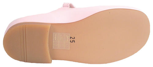 P-2550 - Pink Button Mary Janes