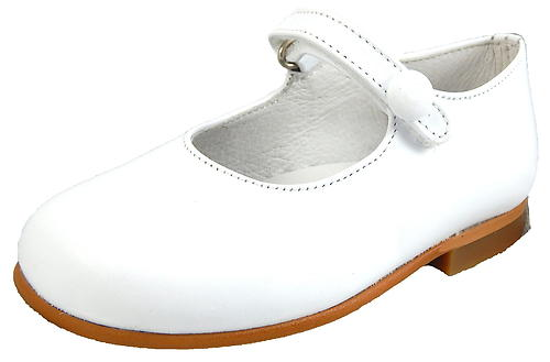 P-2550 - White Button Mary Janes