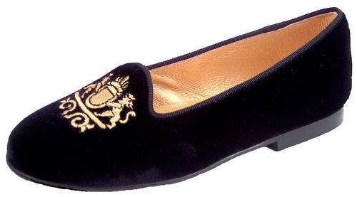 29e0a059d57 DE OSU P-9827 - Girls Womens Black Velvet Gold Crest European Dress ...