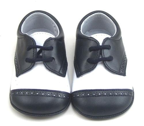 DO-136 - White & Navy Crib Shoes