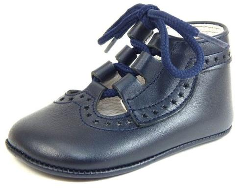 FARO PR-228 - Navy Ghillie Crib Shoes